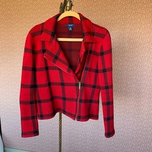 Red and Black Chaps Jacket Medium